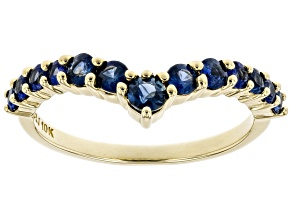 Blue Sapphire 10k Yellow Gold Ring .68ctw