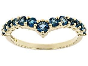 London Blue Topaz 10k Yellow Gold Ring .69ctw