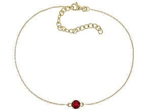 Red Mahaleo® Ruby 10k Yellow Gold Bracelet .65ct