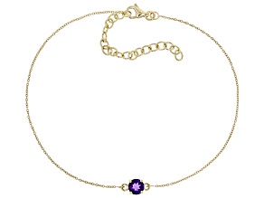 Purple African Amethyst 10k Yellow Gold Bracelet