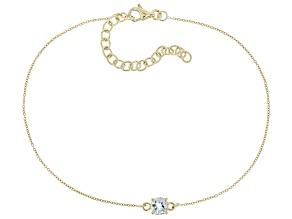 Blue Aquamarine 10k Yellow Gold Bracelet .37ct