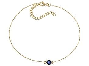 Blue Sapphire 10k Yellow Gold Bracelet .57ct