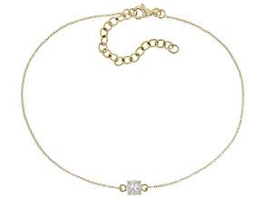 White Zircon 10k Yellow Gold Bracelet .58ct