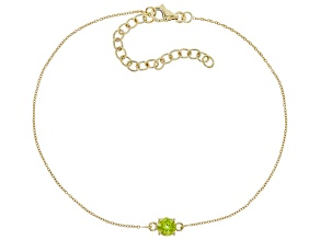 Green Peridot 10k Yellow Gold Bracelet .45ct