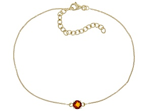 Orange Madeira Citrine 10k Yellow Gold Bracelet .40ct