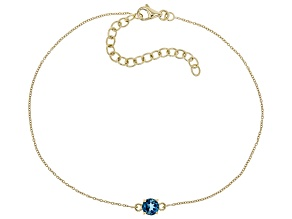 London Blue Topaz 10k Yellow Gold Bracelet .51ct