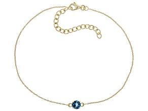 London Blue Topaz 10k Yellow Gold Bracelet .51ct