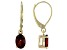 Red Garnet 10k Yellow Gold Earrings 1.62ctw