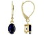 Blue Sapphire 10k Yellow Gold Earrings 1.62ctw