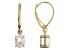 White Zircon 10k Yellow Gold Earrings 2.14ctw