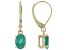 Green Sakota Emerald 10k Yellow Gold Earrings 1.28ctw