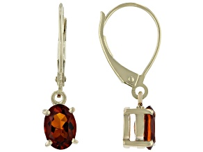 Golden Madeira Citrine 10k Yellow Gold Earrings 1.28ctw