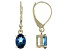London Blue Topaz 10k Yellow Gold Earrings 1.70ctw