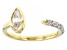 White Zircon 10k Yellow Gold Ring 0.98ctw