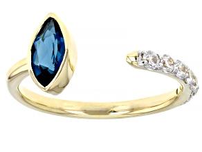 London Blue Topaz 10k Yellow Gold Ring 0.96ctw