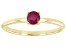 Red Mahaleo(R) Ruby 10k Yellow Gold Solitaire Ring. 0.37ctw