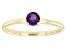 Purple Amethyst 10k Yellow Gold Solitaire Ring. 0.20ctw