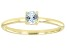 Blue Topaz 10K Yellow Gold Solitaire Ring. 0.26ctw