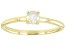 Multi-Color Ethiopian Opal 10k Yellow Gold Solitaire Ring. 0.14ctw