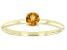 Orange Citrine 10k Yellow Gold Solitaire Ring. 0.21ctw