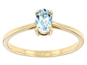 Blue Topaz 10k Yellow Gold Ring 0.43ct