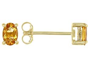 Yellow Citrine 10k Yellow Gold Earrings 0.36ctw