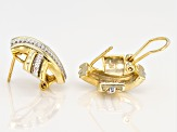 Rhodium And 18k Yellow Gold Over Sterling Silver Earrings