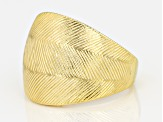 18k Yellow Gold Over Sterling Silver Ring