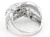 White Cubic Zirconia Rhodium Over Sterling Silver Ring 4.02ctw