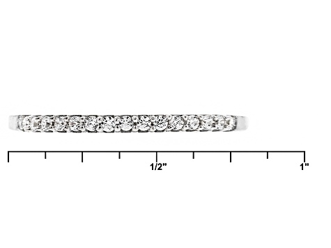 White Cubic Zirconia Rhodium Over Sterling Silver Ring .25ctw