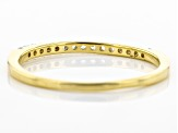 White Cubic Zirconia 18k Yellow Gold Over Sterling Silver Ring .25ctw