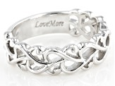 Rhodium Over Sterling Silver Heart Ring