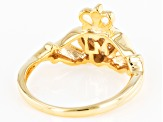 White Cubic Zirconia 18k Yellow Gold Over Sterling Silver Ring 0.24ctw