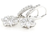 White Cubic Zirconia Rhodium Over Sterling Silver Earrings 3.69ctw