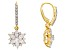 White Cubic Zirconia 18k Yellow Gold Over Sterling Silver Earrings 3.69ctw