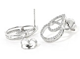 White Cubic Zirconia Rhodium Over Sterling Silver Earrings 1.42ctw