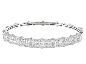 White Cubic Zirconia Rhodium Over Sterling Silver Bracelet 6.65ctw