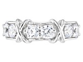 white cubic zirconia rhodium over sterling silver ring 2.50ctw