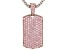 Pink Cubic Zirconia Rhodium Over Silver Enhancer With Chain 8.20ctw