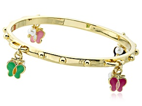 Little Miss Twin Stars Stackable Stunners 14kt Gold Plated Bangle Bracelet