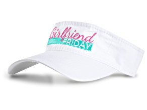 Girlfriend Friday Women's White Visor