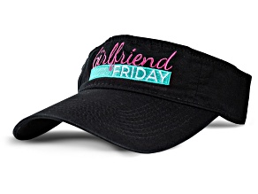 Girlfriend Friday Women's Black Visor