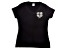 Girlfriend Friday Women's Rhinestone Black V-Neck T-Shirt