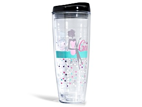 Girlfriend Friday Tumbler With Black Lid 26oz
