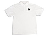 Men's White Cotton Polo