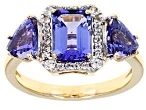 Blue Tanzanite 10k Yellow Gold Ring 2.73ctw