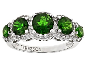 Green Chrome Diopside Silver Ring 2.61ctw
