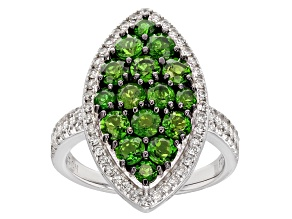 Green Chrome Diopside Silver Ring 2.44ctw
