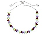 Multi Color Sterling Silver Bracelet 5.71ctw