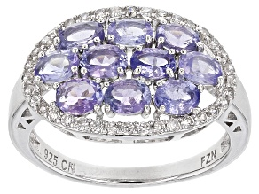 Blue Tanzanite Silver Ring 2.36ctw